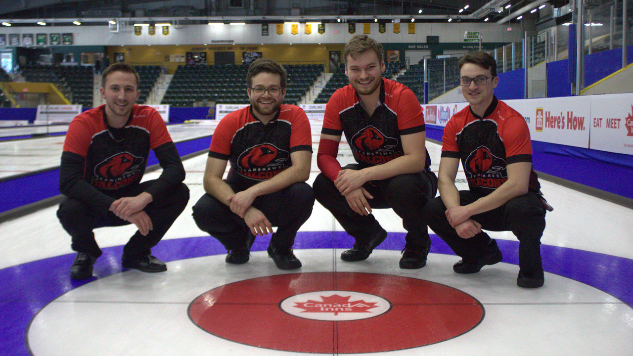 Header image for the article Falcons' curling reflects on Nationals while other sport leagues shut down globally