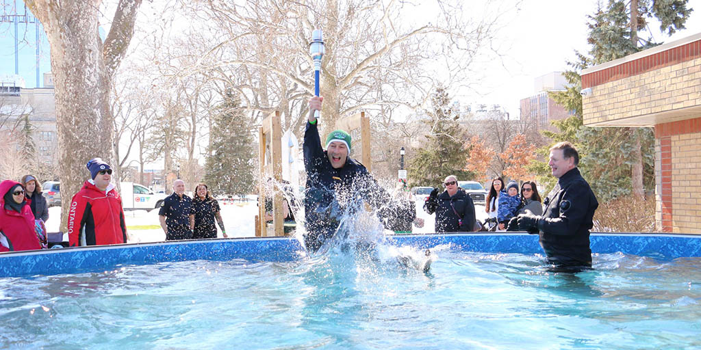 Header image for the article Polar Plunge asks students to freeze for the Special Olympics