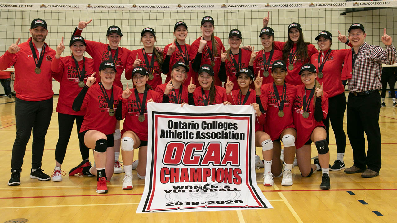 Header image for the article Falcons' women's volleyball advances to Nationals, men's volleyball concludes season