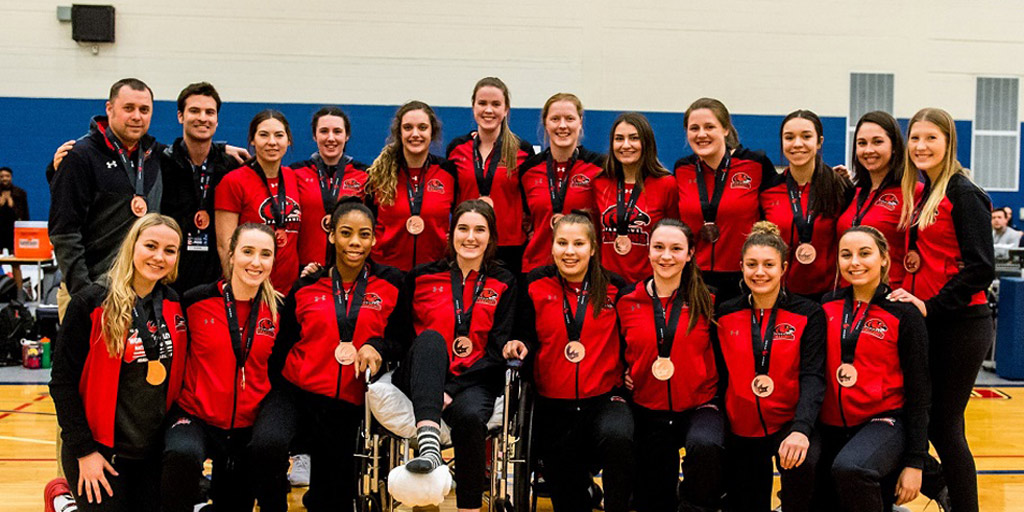 Header image for the article Women's volleyball team takes bronze and makes history