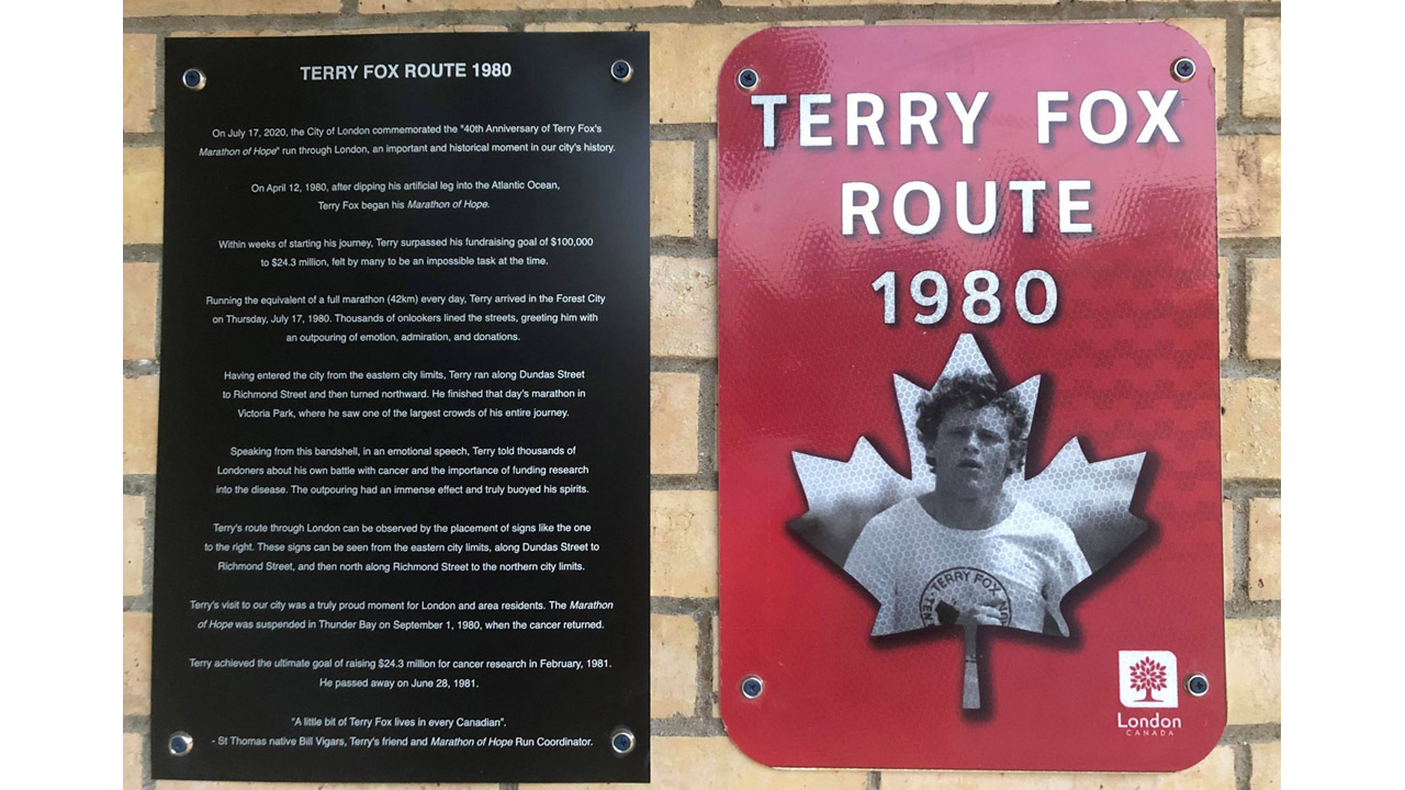 Header image for the article Honouring Terry Fox, 41 years after his visit to London