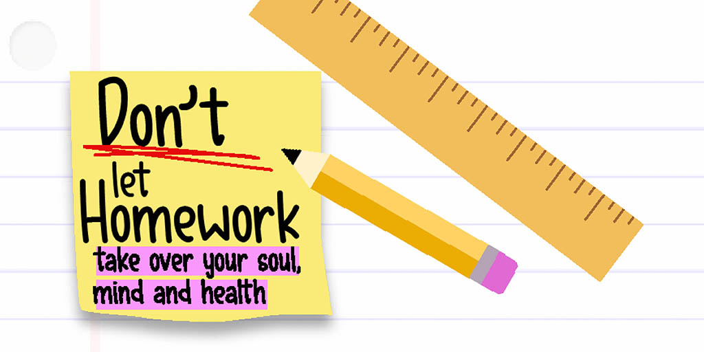 Header image for the article Don't let homework take over your soul, mind and health