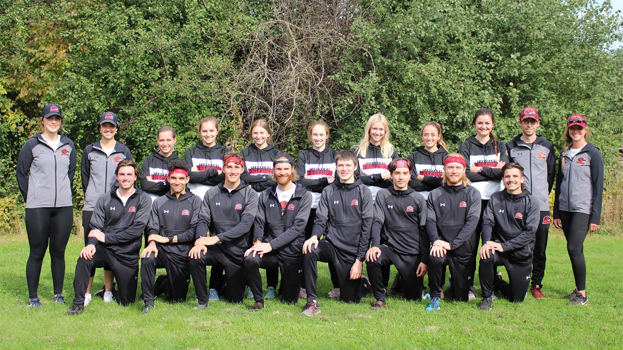Header image for the article Fanshawe's cross country teams run through the competition at home event