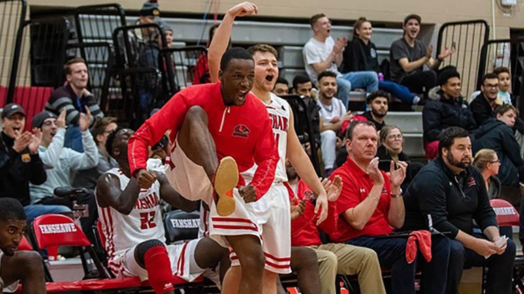 Header image for the article Falcons' men's basketball dominate November